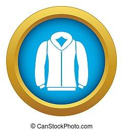 Sweatshirt icon blue isolated
