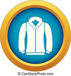 Sweatshirt icon blue vector isolated