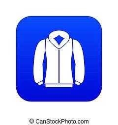 Sweatshirt icon digital blue