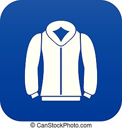 Sweatshirt icon digital blue