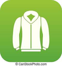 Sweatshirt icon digital green