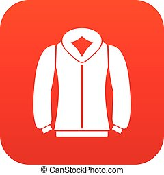 Sweatshirt icon digital red