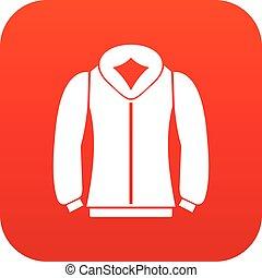 Sweatshirt icon digital red