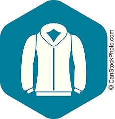 Sweatshirt icon in simple style