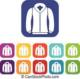 Sweatshirt icons set