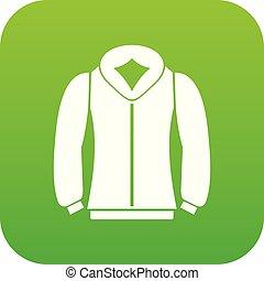 sweatshirt, ikone, grün, digital