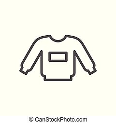 Sweatshirt line icon isolated on white. Vector illustration