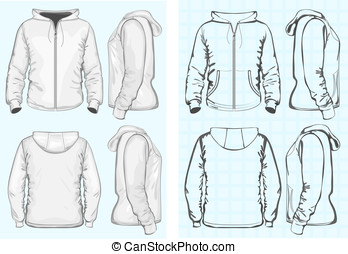 sweatshirt, männer, reißverschluss, verdeckt
