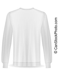 Sweatshirt on a white background. Vector illustration.
