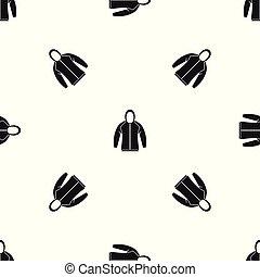 Sweatshirt pattern seamless black