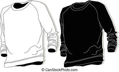 Sweatshirt fashion set illustration.