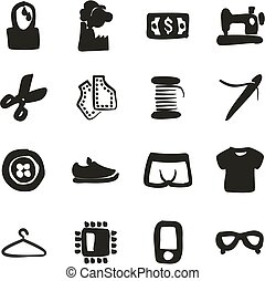 Sweatshop Factory Icons Freehand Fill - This image is a...