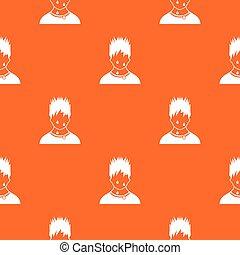 Sweaty man pattern seamless