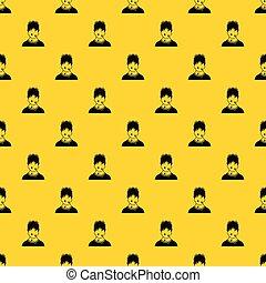 Sweaty man pattern vector