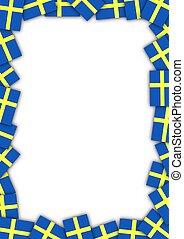sweden旗, 邊框