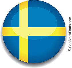 sweden button flag