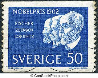 SWEDEN - CIRCA 1962: A stamp printed in Sweden shows Hermann...