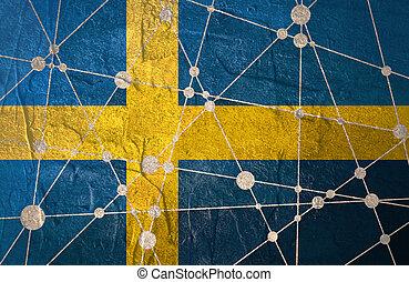 Sweden flag concept