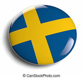Sweden flag design element icon.