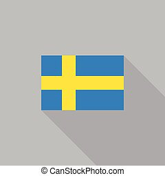 Sweden flag flat design vector illustration