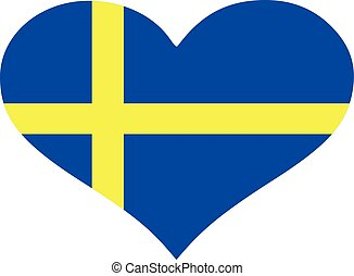 Sweden flag heart