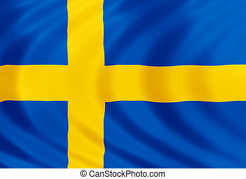 Sweden flag of silk