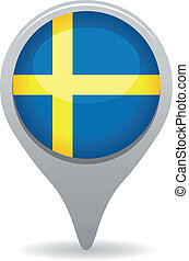sweden flag pointer