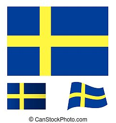 Sweden flag set
