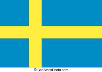Sweden Flag vector illustration. Sweden Flag. National Flag of Sweden.