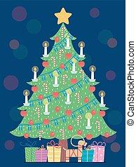 Sweden Jul Christmas Tree Decor Illustration
