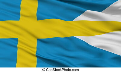 Sweden Naval Ensign Flag Closeup Seamless Loop - Naval ...