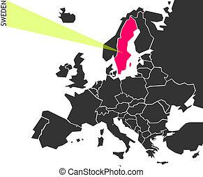 Sweden - political map of Europe