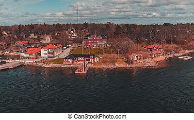 Sweden Stockholm Archipelago at Furusund, one of the narrowest parts of the archipelago.