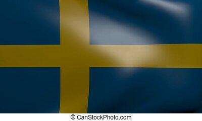 sweden strong wind flag