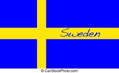 Sweden. - Sweden flag.