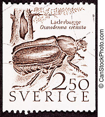 Sweden Swedish Postage Stamp Hermit Beetle Osmoderma Eremita...