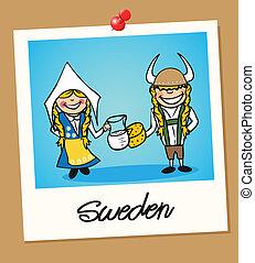 Sweden travel polaroid people