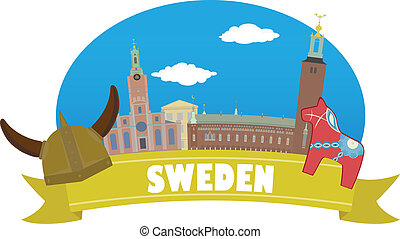 sweden., turismo, e, viagem