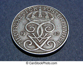 Swedish, 1943, Ore - Five Ore, 1943, Swedish collectable...