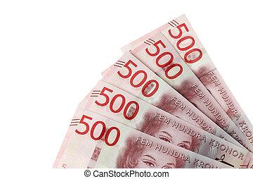 Swedish 500 krona banknotes