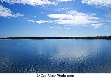 View over swedish archipelago