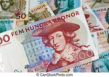 Swedish crowns. - Swedish krona, the currency of Sweden. ...