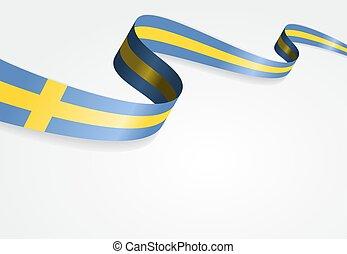 Swedish flag background. Vector illustration. - Swedish flag...