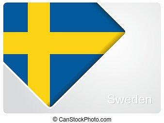 Swedish flag design background. Vector illustration.