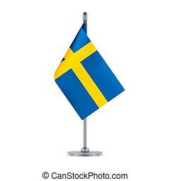 Swedish flag, flat layout, vector illustration