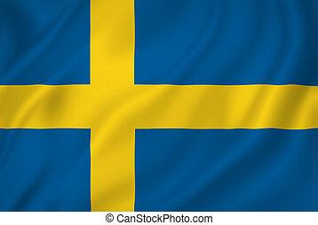 Swedish flag - Swedish national flag background texture.