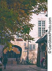 Swedish gate in Riga in autumn