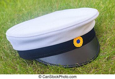 Swedish graduation cap in the grass