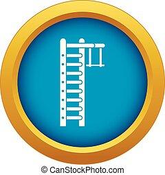 Swedish ladder icon blue vector isolated on white background...