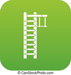 Swedish ladder icon digital green for any design isolated on...